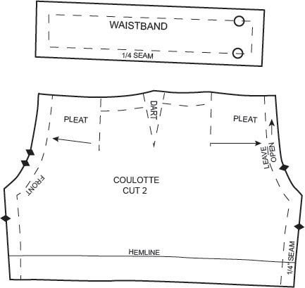 barbie culottes pattern