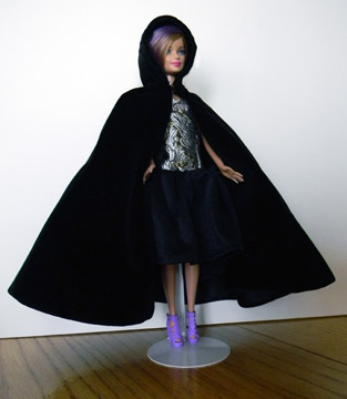 black velveteen cape