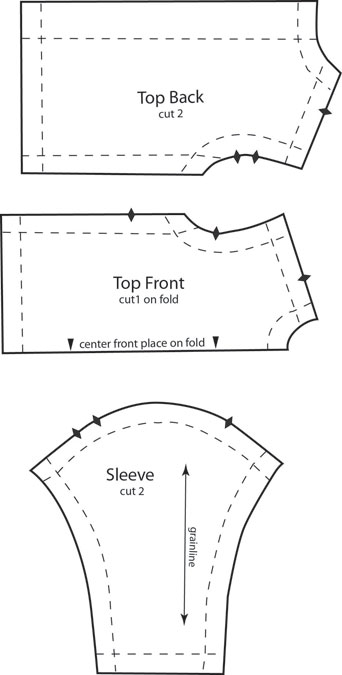 Barbie long sleeved top sewing and pattern for Long sleeve shirt pattern