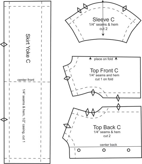 top and skirt yoke patterns