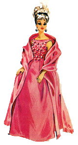 barbie's gown and stole