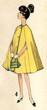 barbie's short cape no collar