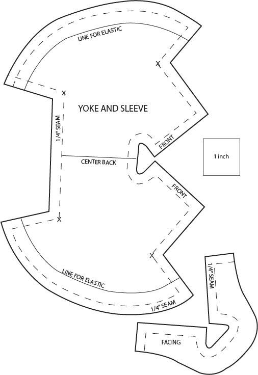 yoke sleeve facing